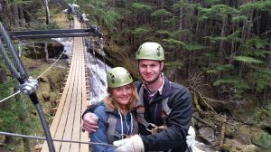 Emma and Zach Ziplining